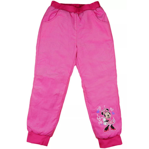 Nohavice menčester zateplené Minnie - D1042-8
