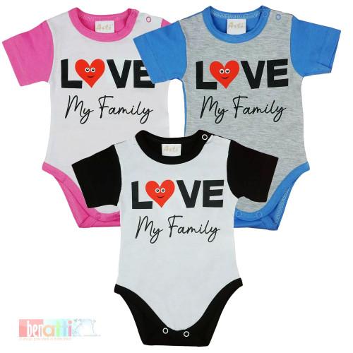 "Body s kr.rukávom ""Love my family"" D1002-64"