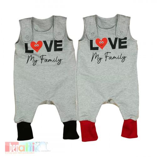 """Dupačky kojenecké """"Love my family""""  D1004-60"""