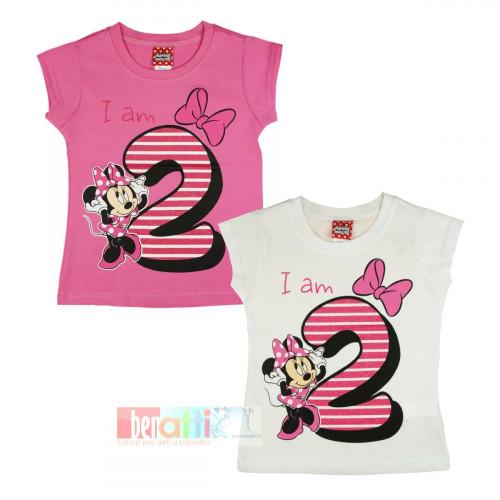 Tričko s krátky rukávom - Minnie - na 2. narodeniny - D1212-74-2
