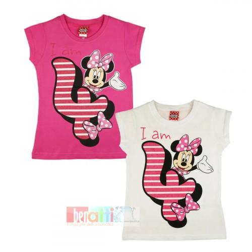 Tričko s krátky rukávom - Minnie - na 4. narodeniny - D1212-74-4