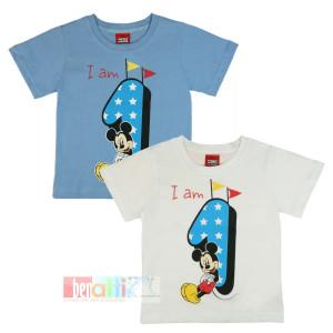 Tričko s krátky rukávom - Mickey - na 1. narodeniny - D1212-75-1