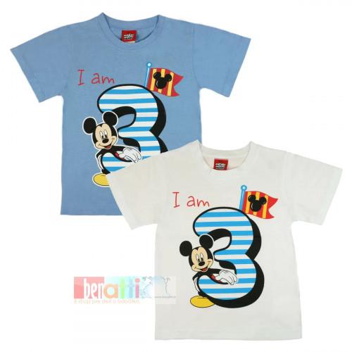 Tričko s krátky rukávom - Mickey - na 3. narodeniny - D1212-75-3