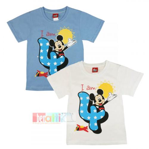 Tričko s krátky rukávom - Mickey - na 4. narodeniny - D1212-75-4