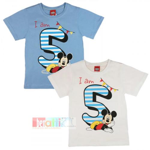 Tričko s krátky rukávom - Mickey - na 5. narodeniny - D1212-75-5