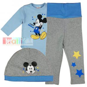 Súprava kojenecká 3 dielná - Mickey - D1353-45