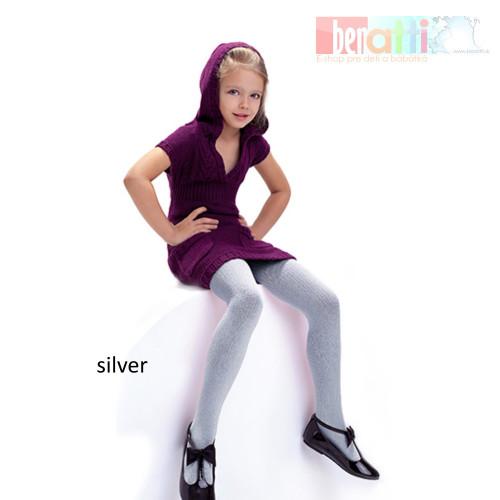 Pančuchy Agatka - silver - KN0017