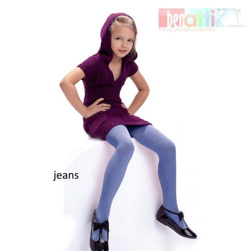 Pančuchy Agatka - jeans - KN004